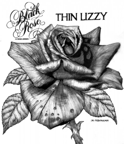 black rose pencil.1979.final Red
