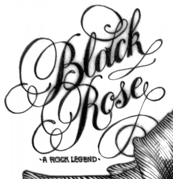 black rose pencil.1979.final Red detail 1