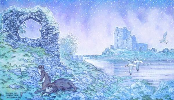 dun guaire castle detail 1
