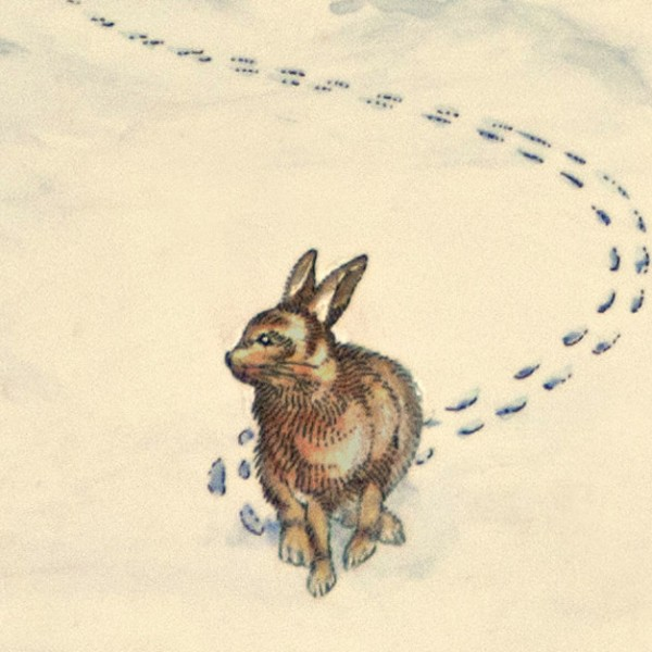 winter(rabbit in snow).1982. detail 3