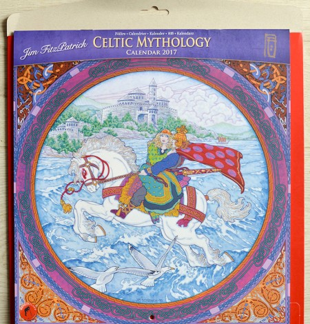 Calendar, irish calendar, irish myths, irish myths and legends, irish stories, irish story, celtic design, celtic calendar, celtic irish art, jim fitzpatrick celtic mythology calendar, calendar 2017,