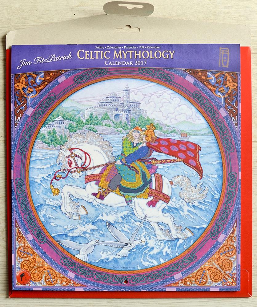 Calendar, irish calendar, irish myths, irish myths and legends, irish stories, irish story, celtic design, celtic calendar, celtic irish art, jim fitzpatrick celtic mythology calendar, calendar 2017,