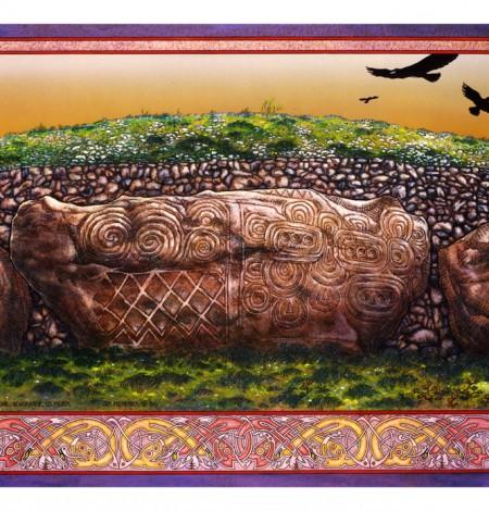Irish, Ireland, Myth, Legend, Irish Myth, Irish Mythology, Celtic, Celtic art, Celtic Mythology, Jim FitzPatrick, Art, Irish Art, Newgrange, kerbstone