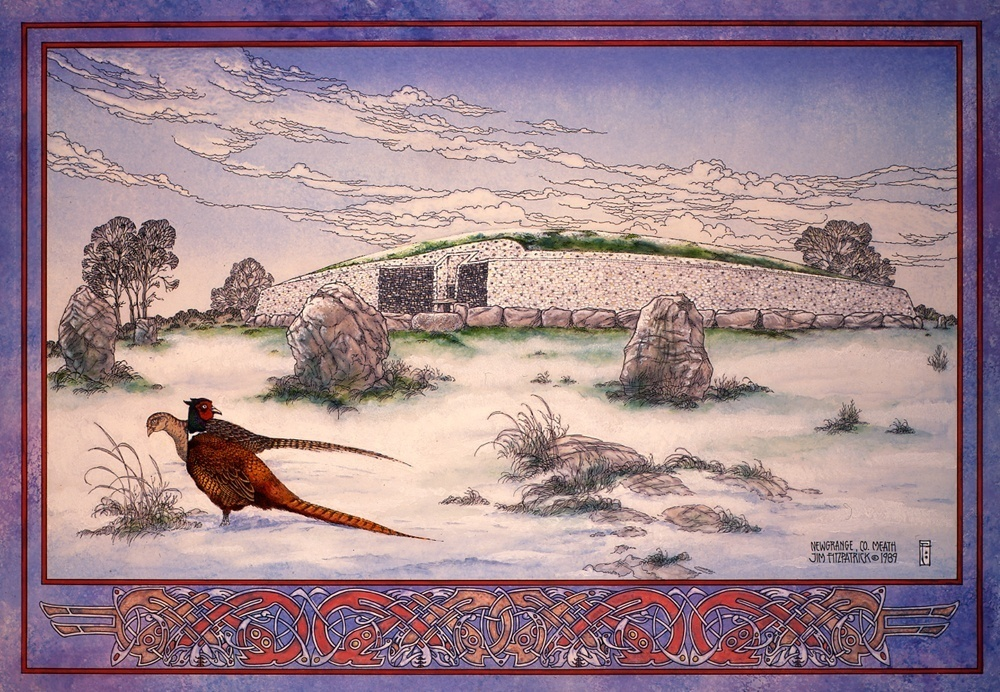 Irish, Ireland, Myth, Legend, Irish Myth, Irish Mythology, Celtic, Celtic art, Celtic Mythology, Jim FitzPatrick, Art, Irish Art, newgrange