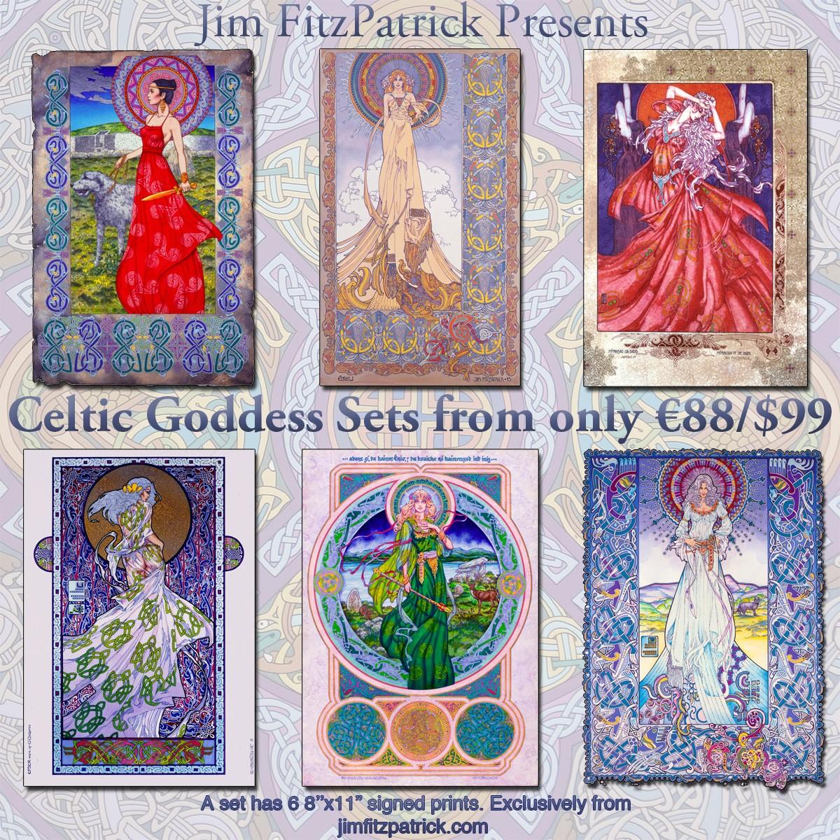 Prints, Irish, Ireland, Myth, IrishArt, CelticArt, Celtic, Mythology, Art, CelticMythology, JimFitzPatrick, theBookofConquests, women, erotic, erotica, Goddessess, Celtic gods,
