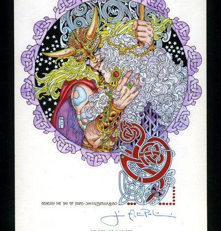 hand-coloured print