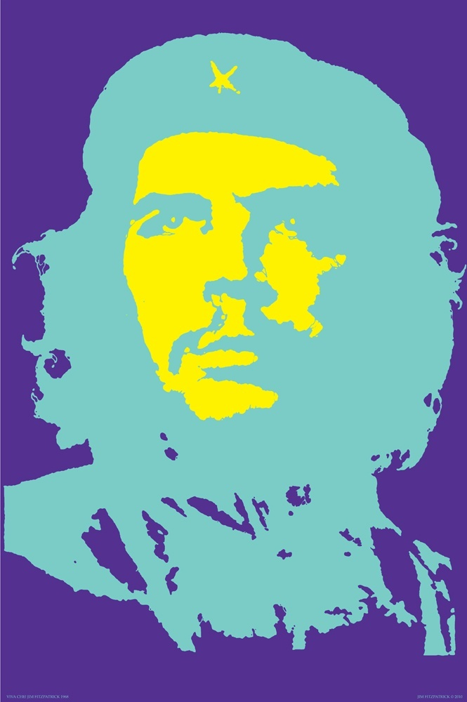 Viva Ché 1968 poster print Royal Purple Variation of Ernesto Ché Guevara by Jim Fitzpatrick.