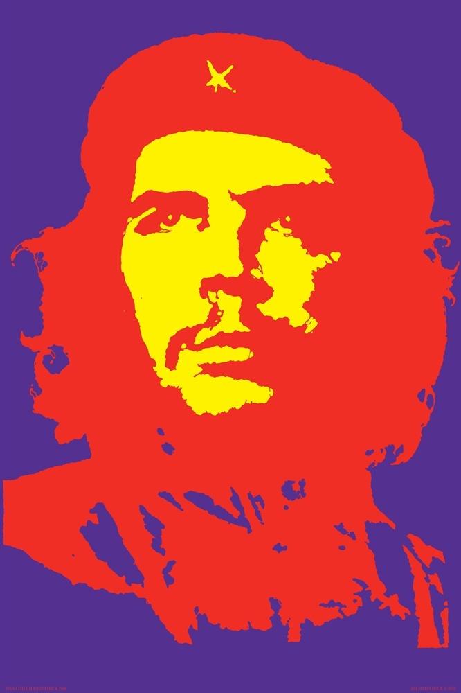 Viva Ché 1968 poster print Royal Purple Variationof Ernesto Ché Guevara by Jim Fitzpatrick.