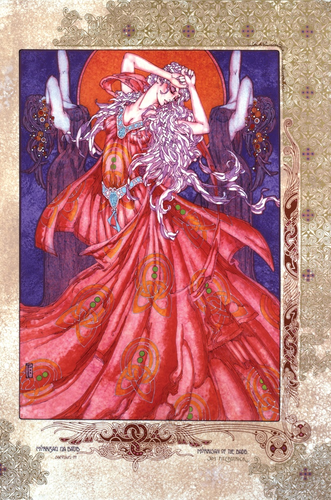 Prints, Irish, Ireland, Myth, IrishArt, CelticArt, Celtic, Mythology, Art, CelticMythology, JimFitzPatrick, theBookofConquests, Women, erotic, erotica, celtic gods, celtic goddesses,