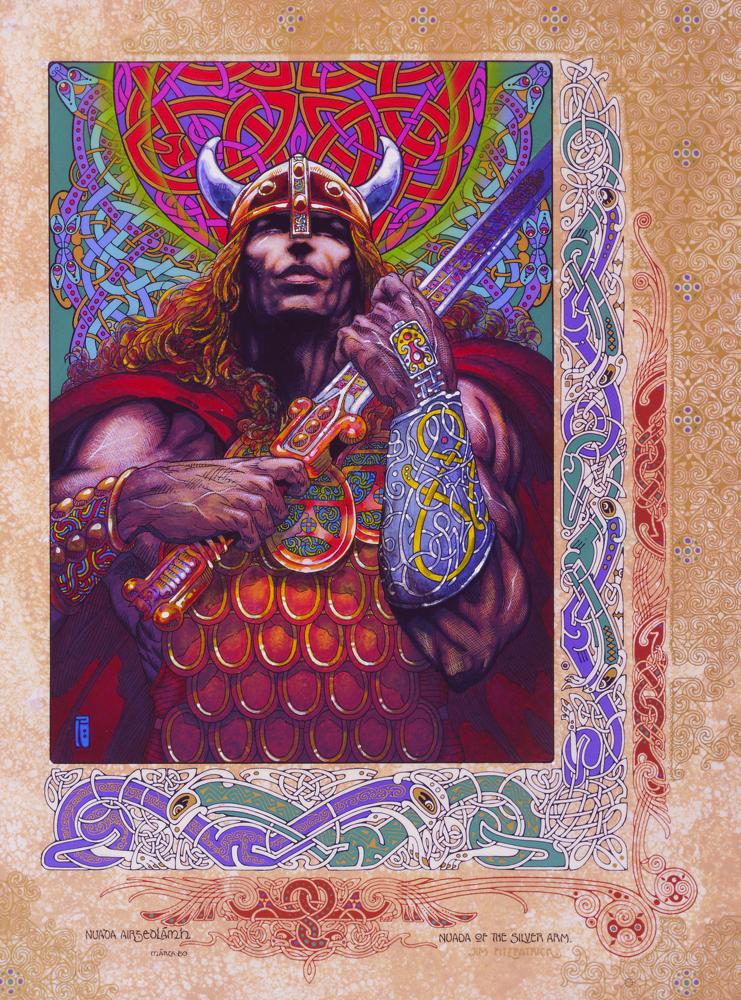 Nuada, Nuada Silverarm, Nuada son god, Nuada Irish god, Irish myth, irish legend, irish mythology, irish, ireland, jim fitzpatrick