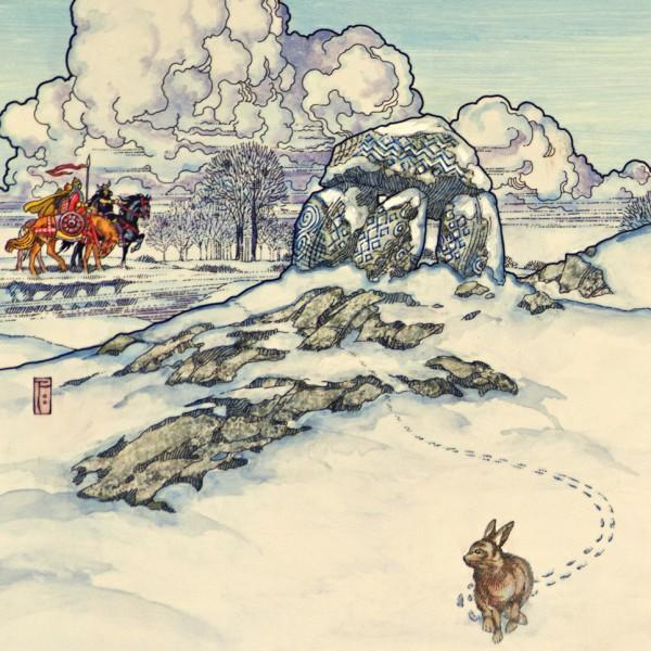 winter(rabbit in snow).1982. detail 1