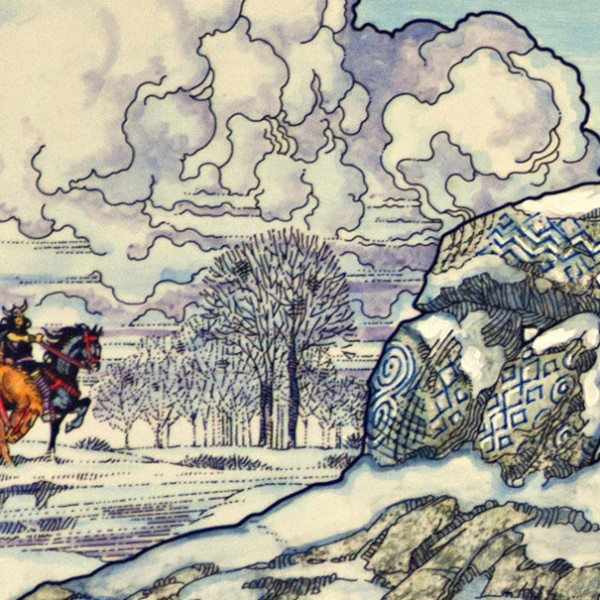 winter(rabbit in snow).1982. detail 2
