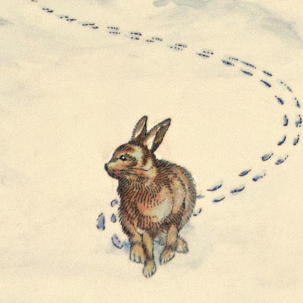 winter(rabbit in snow).1982. detail 3