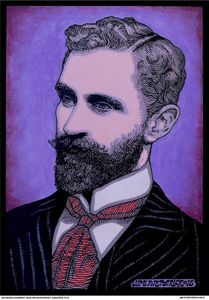 Sir Roger Casement, Irish Revolutionaries, Irish revolutionary, Jim FitzPatrick, Ireland, Easter 1916, Easter Rising, Irish.