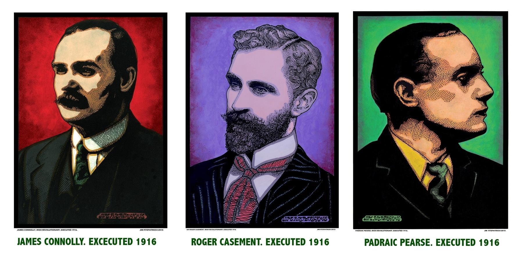 Irish Revolutionaries, Easter 1916, easter Rising 1916, James Connolly, Padraic Pearse, Sir Roger Casement