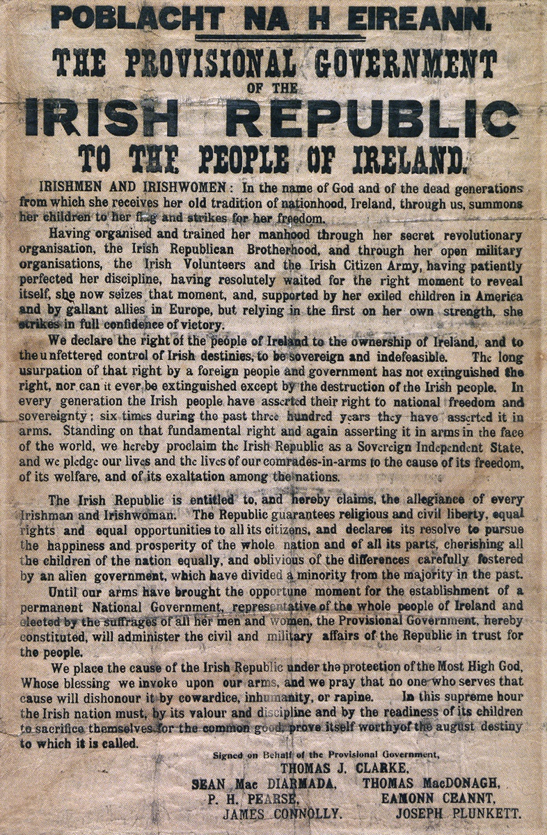 1916 Executed Leaders and The Proclamation of the Irish Republic A3 Double Sided