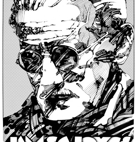 Irish writers, Irish, writers, Joyce, Wilde, Behan, Beckett, Yeats, Ireland, Irish Literature, James Joyce W.B. Yeats, William Butler Yeats, Brendan Behan, Samuel Beckett, Oscar Wilde, Jim Fitzpatrick, Portraits, Portrait, Irish writer portrait, Irish writers Portraits, graphic art,