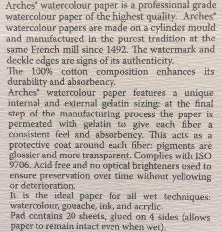 WaterColor Paper Desc